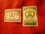 Serie Malaya 1960 Anul Refugiatilor , 2 valori, Nestampilat