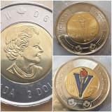 Set 2 monede 2 Dollars 2020 Canada, Victory , unc, colorata& normala, America de Nord