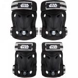 Set protectie cotiere/genunchiere Skate Star Wars Seven, inchidere Velcro, Negru