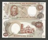 FILIPINE  10   PISO  1969   UNC   [1]  P- 144 a  ,  Semnatura 7 ,  necirculata