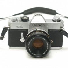 Canon TX + obiectiv Canon FD 50mm 1.8 - Stare foarte frumoasa!
