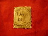 Timbru India 1885 R.Victoria ,val. 4 anna stampilat