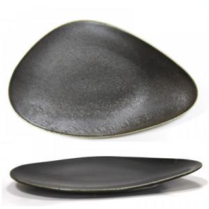 Platou portelan triunghi BLACK, Antique, 36 cm, 0156104