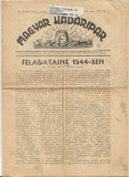 Magyar kadaripar ianuarie 1944 nr 1 ziar vechi maghiar al doilea razboi mondial