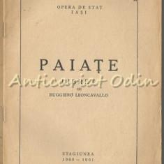 Paiate. Libret - Ruggiero Leocanvallo