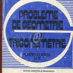 Probleme de geometrie si de trigonometrie pentru clasele IX - X