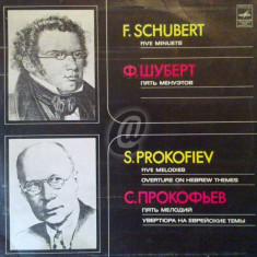 S. Prokofiev - Five Melodies, Overture on Hebrew Themes (Vinil)