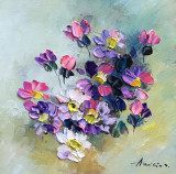 Tablou ulei (15/15 )- FLORI, Impresionism