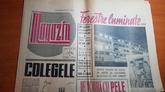 """magazin 6 iulie 1963-art. blocurile din onesti,muntii gutai,art """"de vb cu pele"""""""
