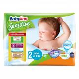 Cumpara ieftin Scutece Babylino Sensitive, N2, 3-6 kg, 26 Buc.