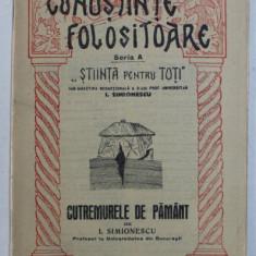 CUTREMURELE DE PAMANT de I. SIMIONESCU 1934