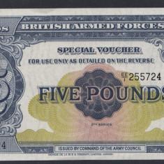 A5176 Anglia UK 5 pounds ND 1948 UNC