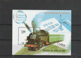 Trenuri ,congres filatelic ,Cuba.
