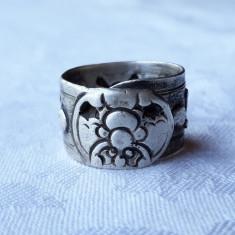 INEL argint SIGILAR prin ROLUIRE unicat REGLABIL de colectie SPLENDID de efect