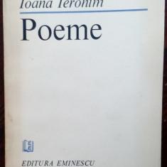 IOANA IERONIM - POEME (editia princeps, 1986) [dedicatie / autograf]