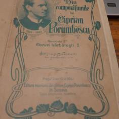 Lot 9 x Partituri Muzicale Ciprian Porumbescu 1910 1911 1913 1933