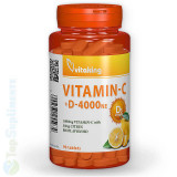 Cumpara ieftin Vitamina C+D cu bioflavonoide 90tab. (sportivi, circulatie, imunitate) Vitaking