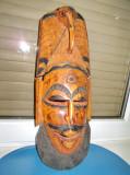 5393-Masca mare Africa cu cap elefant in lemn masiv, stare buna.