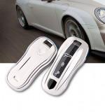 Husa Cheie Porsche Cayenne/Panamera Silver TPU