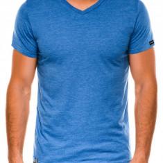 Tricou slim fit barbati S1041 - albastru