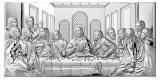 Icoana Cina Cea De Taina Foita de Argint 20x12cm Cod Produs 1688
