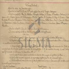PROCES VERBAL, PARTIDUL NATIONAL TARANIST, SEMNAT VIRGIL MADGEARU, 1932