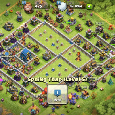 Cont Clash of clans th12 aproape max, lvl 232