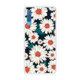 Cumpara ieftin Carcasa Husa Samsung Galaxy A7 2018 Model White Daisy Antisoc + Folie sticla securizata Samsung Galaxy A7 2018 Tempered Glass Viceversa