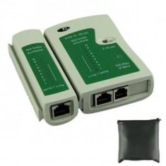 Tester pentru cablu UTP si telefon RJ45, RJ11