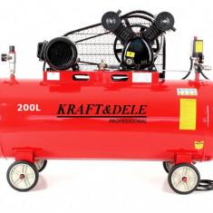 Compresor de aer industrial 200litri, 2 cilindri, 3.8kW, 400V KD1473, Compresoare cu piston