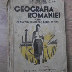 GEOGRAFIA ROMANIEI PENTRU CLASA VIII SECUNDARA BAIETI SI FETE (ULTIMA FILA LIPSA