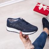Pantofi Piele sport dama albastri Iamori