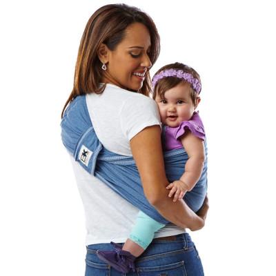 Sistem Purtare Baby Ktan Baby Carrier Original Cotton - Denim - Marimea XS foto