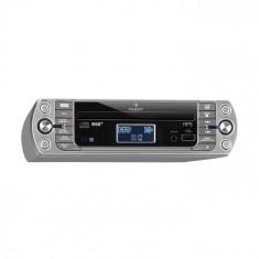 Auna KR-400 CD, radio de bucătărie, DAB+ / PLL FM, CD / MP3 player, argintiu