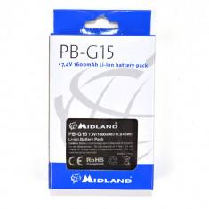 Aproape nou: Acumulator Midland PB-G15 Li-Ion 1600 mAh pentru Statie G15 / G18 Cod