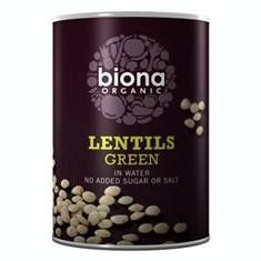 Linte Verde in Suc Propriu Bio Biona 400gr Cod: 5032722302235