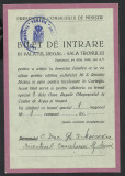 RARITATE-Bilet de intrare  Palatul Regal la Serv. funebru al Reginei MARIA-1938