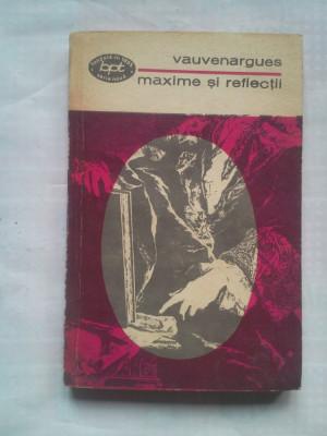 (C428) VAUVENARGUES - MAXIME SI REFLECTII - BPT 743 foto