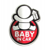 "Abtibild TS-125 ""BABY IN CAR"" fond rosu TerraCars"