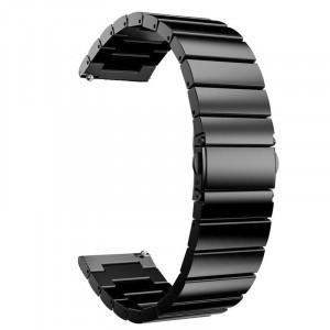 Curea din metal compatibila cu Samsung Galaxy Watch 46mm, Telescoape Quick Release, 22mm, Negru