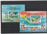 Campionatul mondial de fotbal Italia 1990 ,colite nadantelate , Romania., Nestampilat