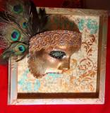Masca in rama handmade