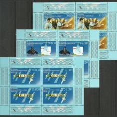 DDR 1988 - cosmos, serie in bloc de 4 neuzata