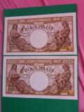 bancnote romanesti 2000lei octombrie 1944 filigran bnr serie consecutiva