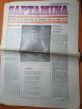 Saptamana 28 octombrie 1988-articol nadia comaneci,eugen barbu