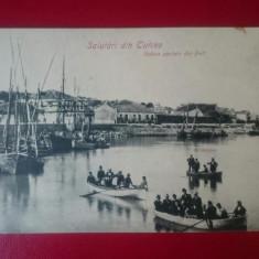 Salutari din Tulcea Vedere din port, Necirculata, Printata