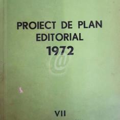 Proiect de plan editorial 1972. Exemplar de lucru
