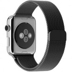Curea pentru Apple Watch Space Gray Milanese Loop iUni 38mm Otel Inoxidabil
