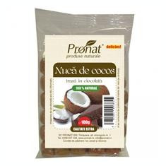Nuca de Cocos Trasa in Ciocolata Pronat 100gr Cod: prn105