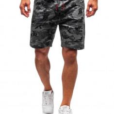 Pantaloni scurți trening bărbați camuflaj-grafit Bolf 300118